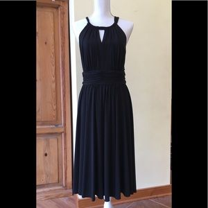 White House Black Market Black Halter Dress